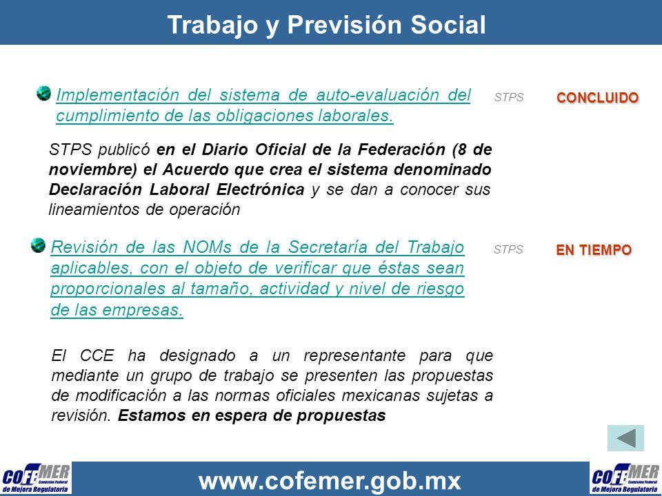 Trabajo y Previsión Social