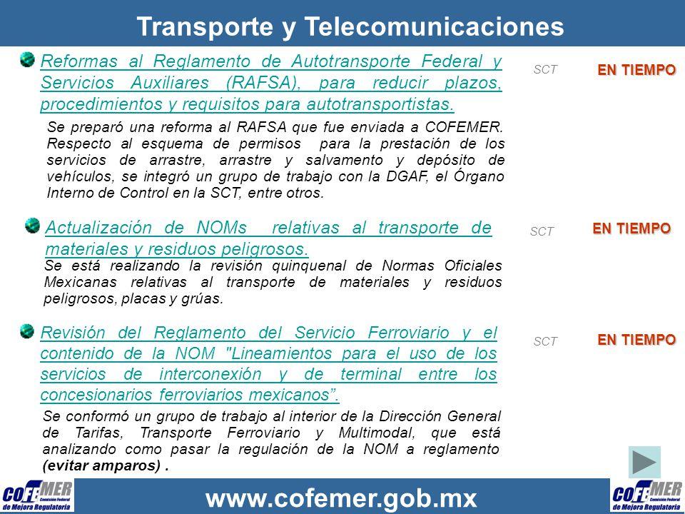 Transporte y Telecomunicaciones