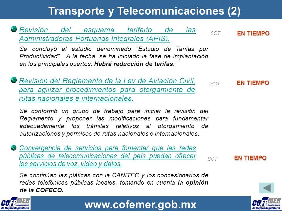 Transporte y Telecomunicaciones (2)