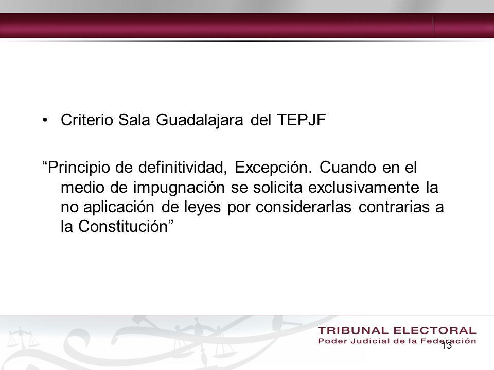 Criterio Sala Guadalajara del TEPJF