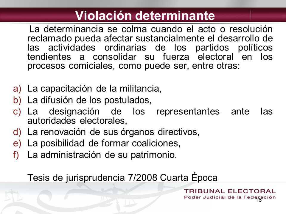 Violación determinante