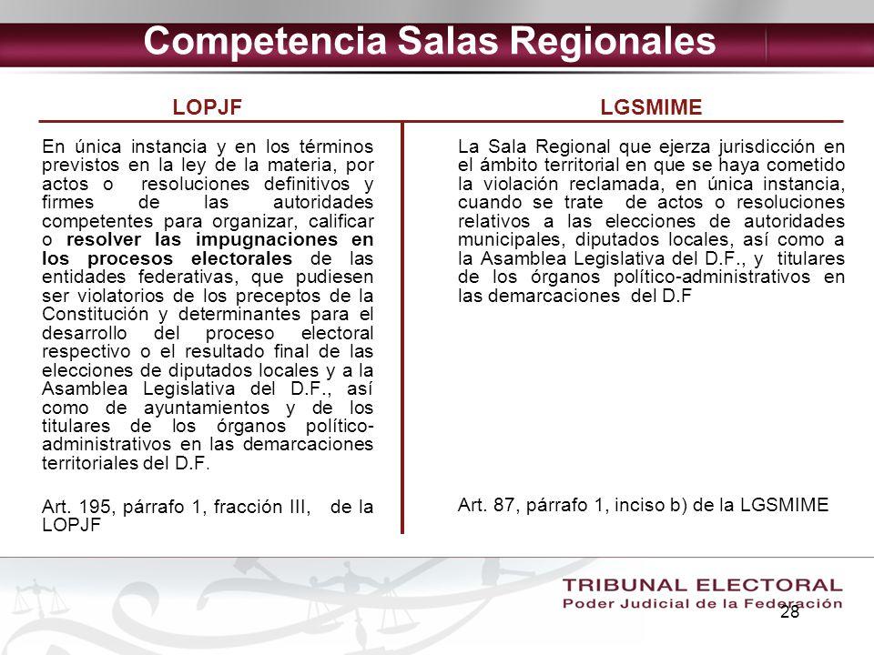 Competencia Salas Regionales