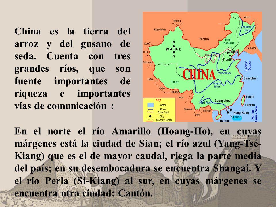 China es la tierra del arroz y del gusano de seda