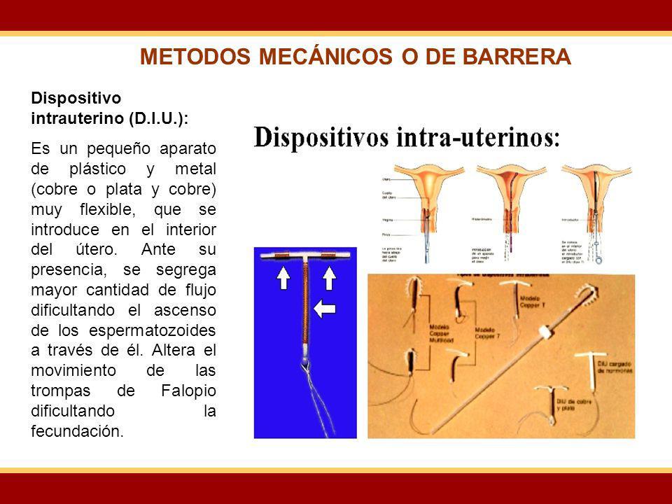 METODOS MECÁNICOS O DE BARRERA