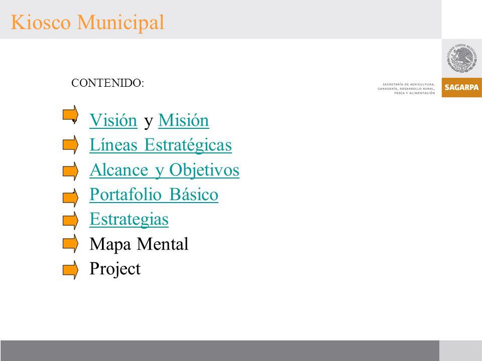 Kiosco Municipal Visión y Misión Líneas Estratégicas
