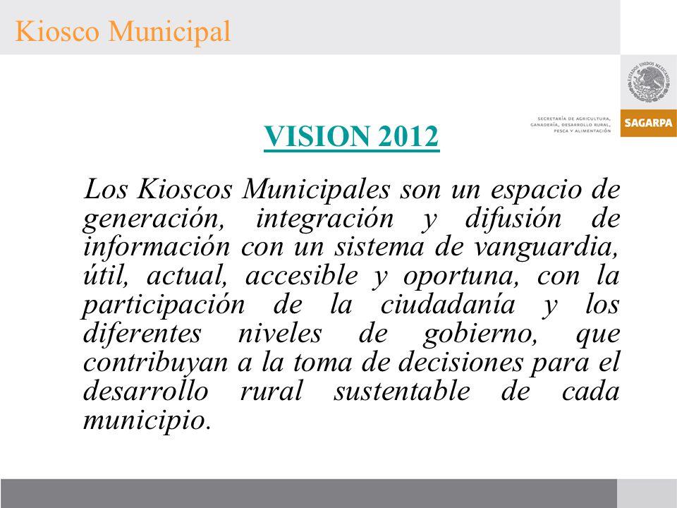 Kiosco Municipal VISION 2012.