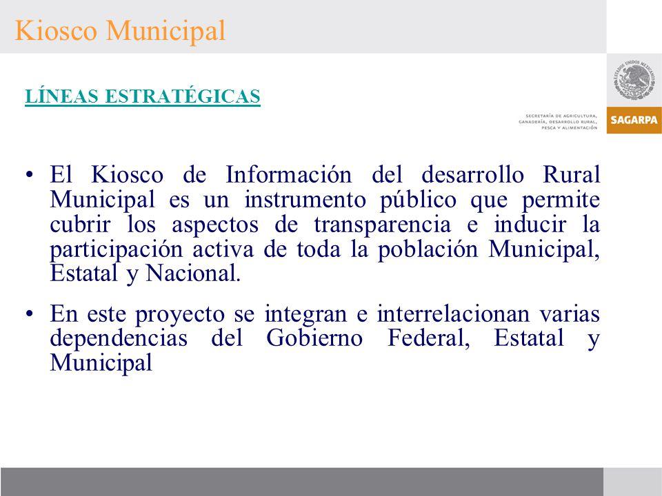 Kiosco Municipal LÍNEAS ESTRATÉGICAS.