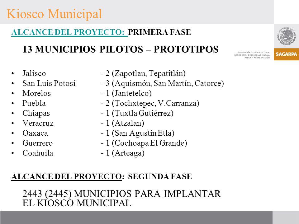 Kiosco Municipal ALCANCE DEL PROYECTO: PRIMERA FASE