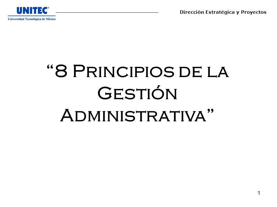 8 Principios de la Gestión Administrativa