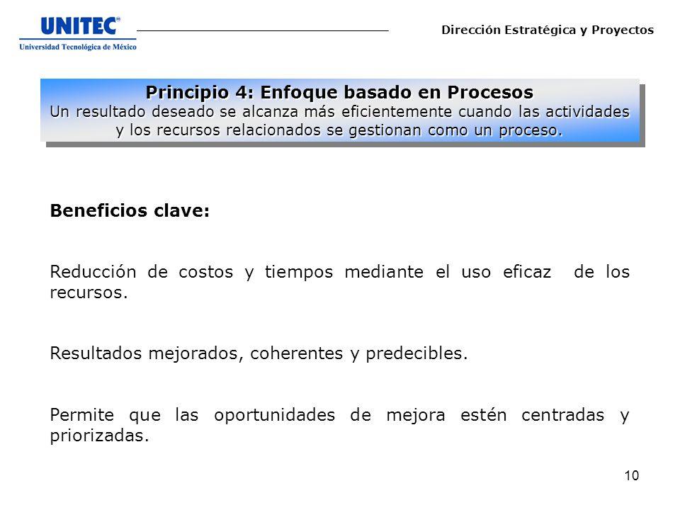 Principio 4: Enfoque basado en Procesos