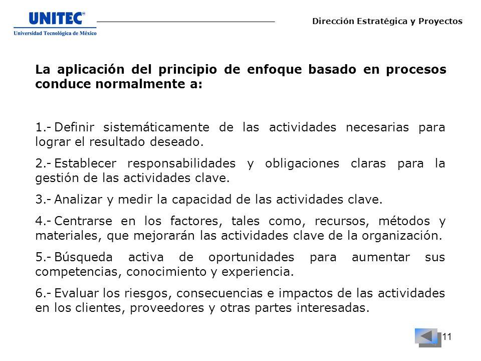 3.- Analizar y medir la capacidad de las actividades clave.