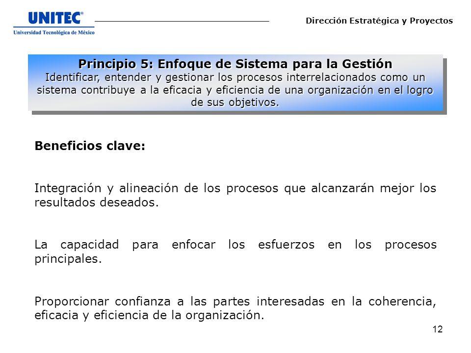 Principio 5: Enfoque de Sistema para la Gestión
