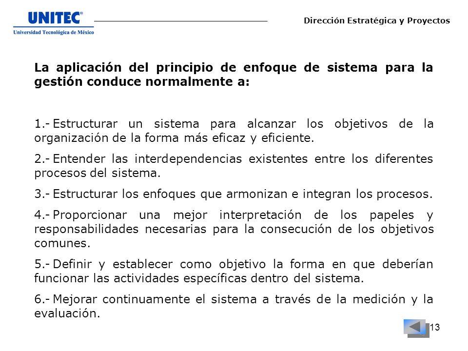 3.- Estructurar los enfoques que armonizan e integran los procesos.
