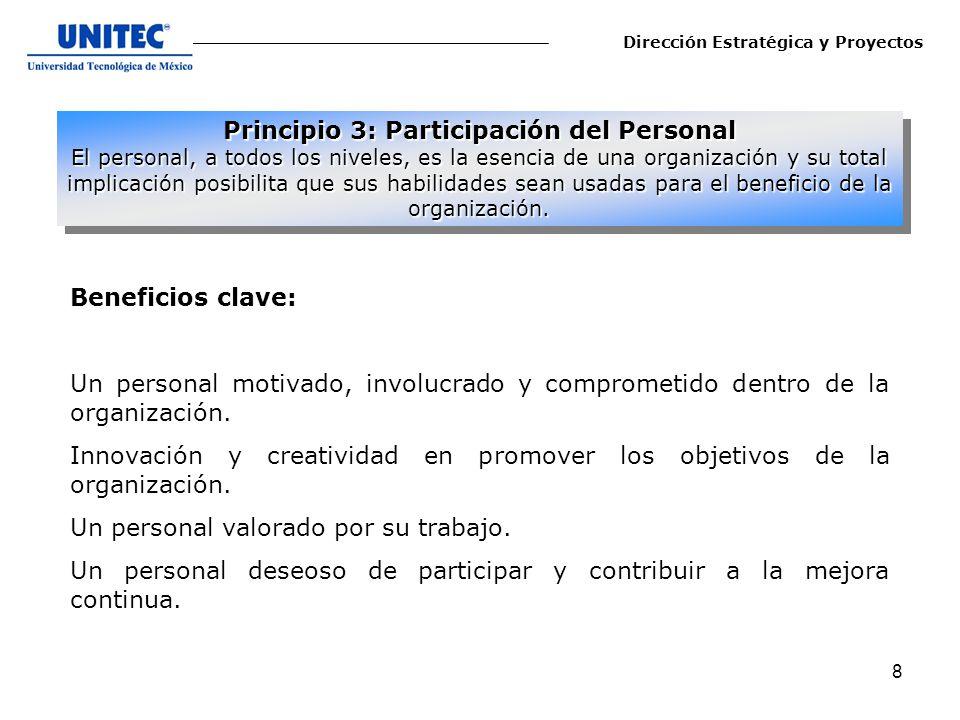 Principio 3: Participación del Personal