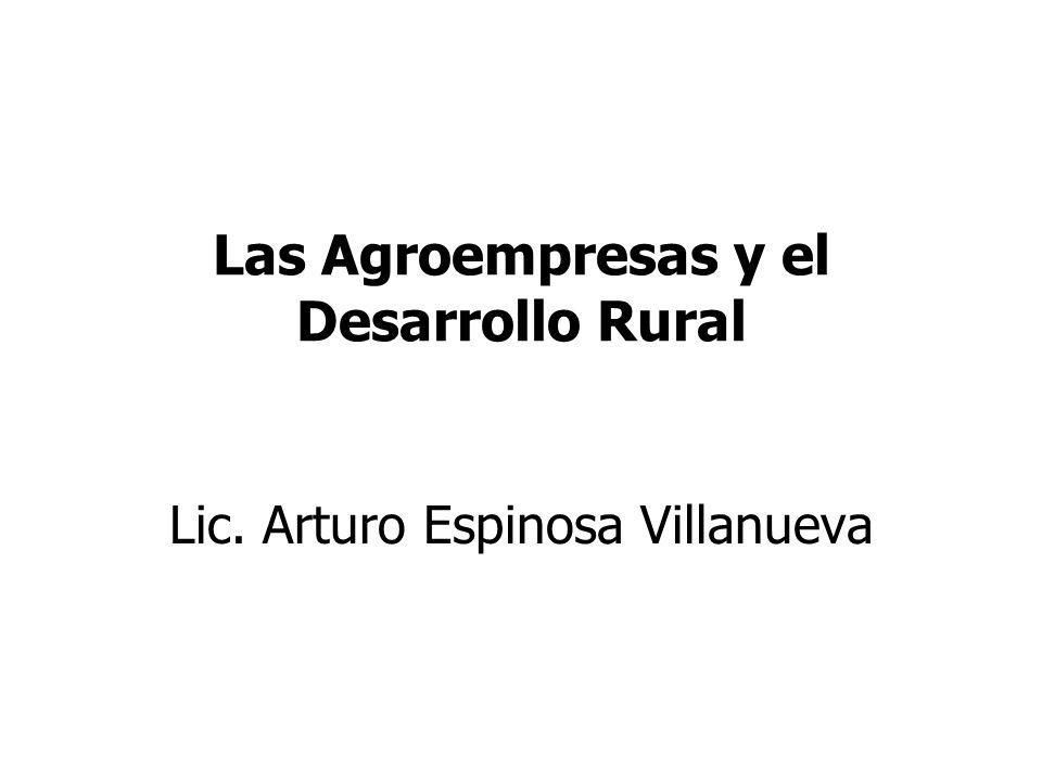 Las Agroempresas y el Desarrollo Rural