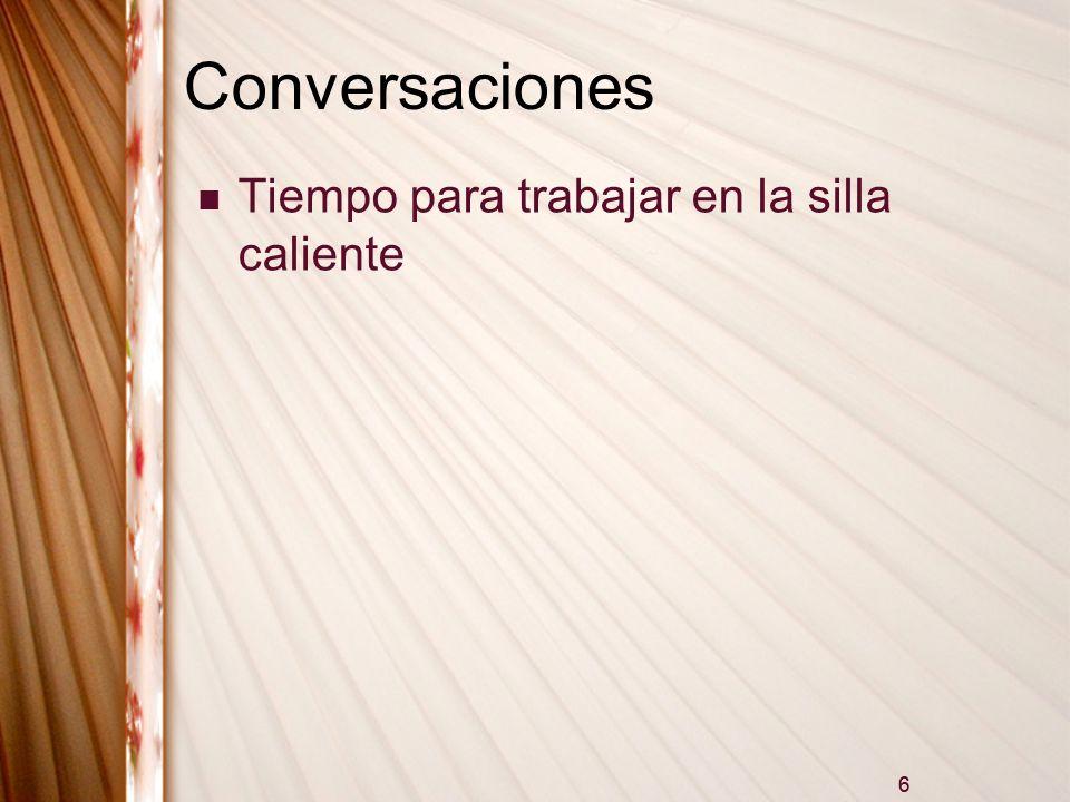Conversaciones Tiempo para trabajar en la silla caliente 6
