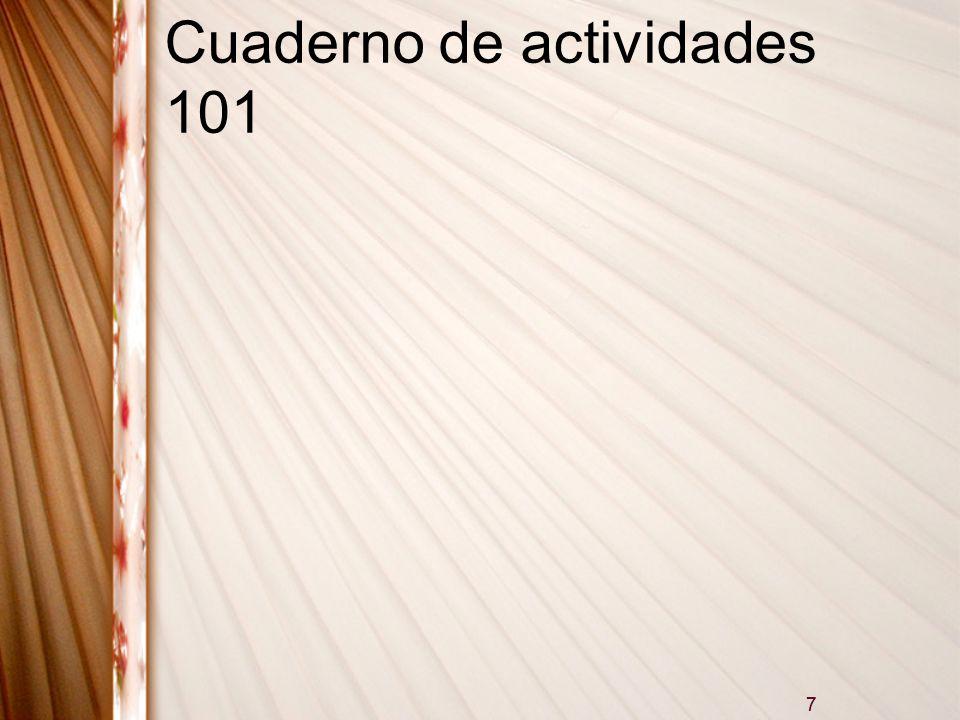 Cuaderno de actividades 101