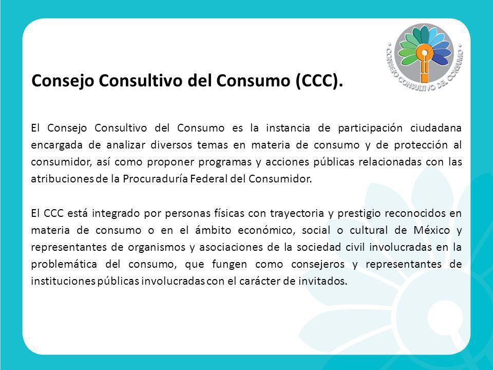 Consejo Consultivo del Consumo (CCC).