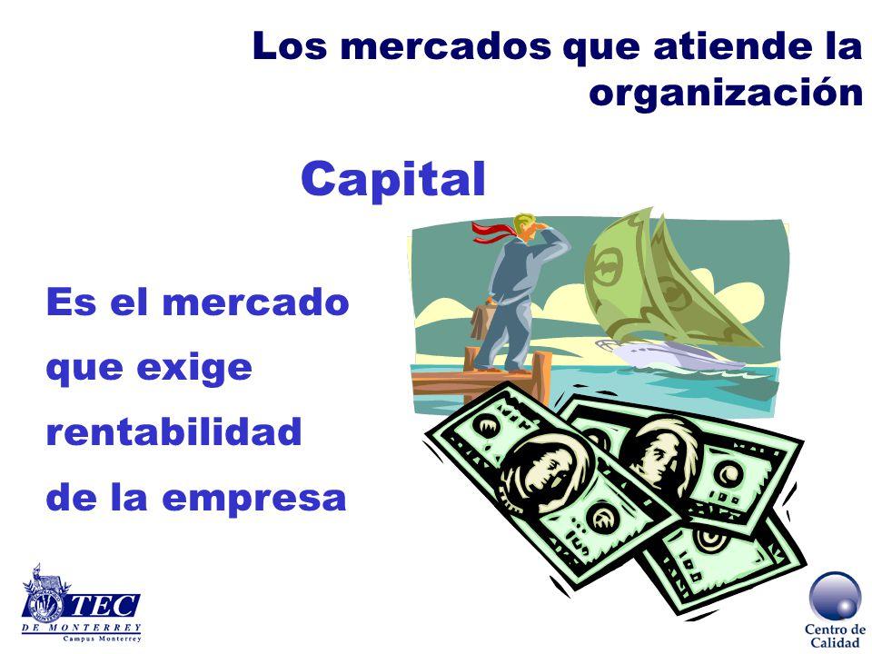 Capital Los mercados que atiende la organización Es el mercado