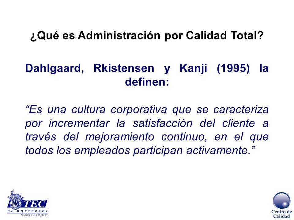 ¿Qué es Administración por Calidad Total