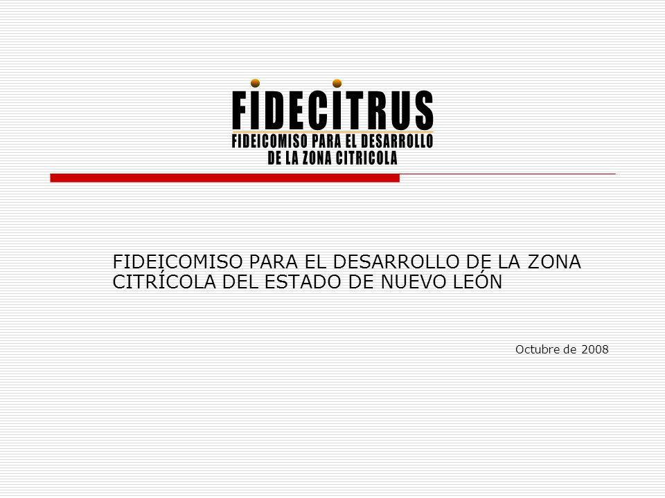 FIDEICOMISO PARA EL DESARROLLO DE LA ZONA CITRÍCOLA DEL ESTADO DE NUEVO LEÓN