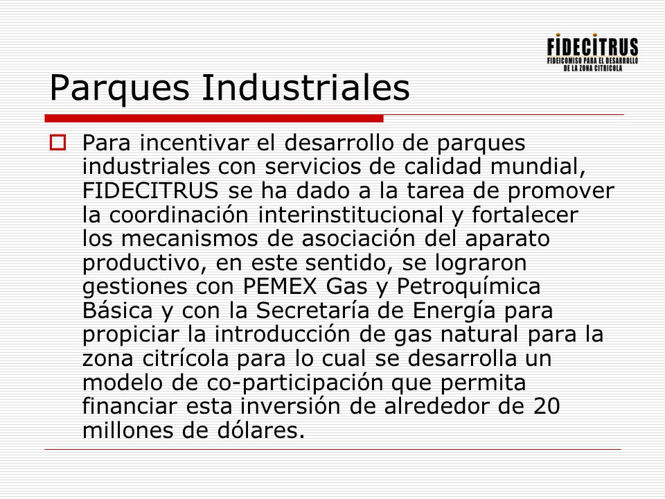 Parques Industriales