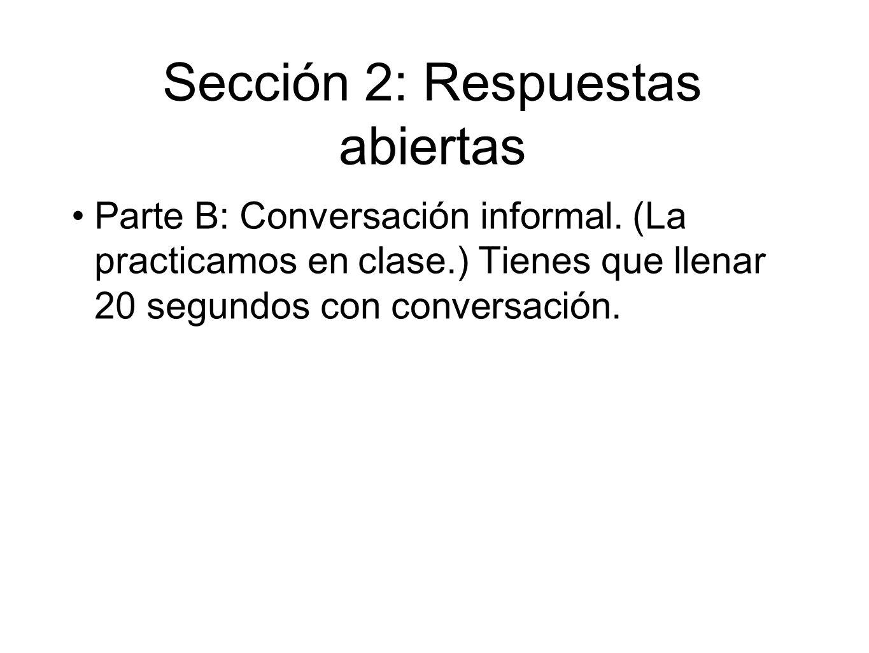 Sección 2: Respuestas abiertas