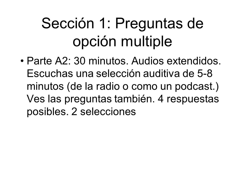 Sección 1: Preguntas de opción multiple