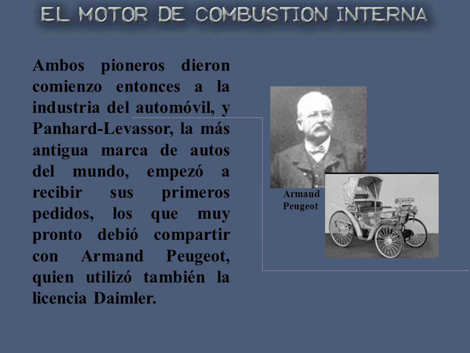 Ambos pioneros dieron comienzo entonces a la industria del automóvil, y Panhard-Levassor, la más antigua marca de autos del mundo, empezó a recibir sus primeros pedidos, los que muy pronto debió compartir con Armand Peugeot, quien utilizó también la licencia Daimler.