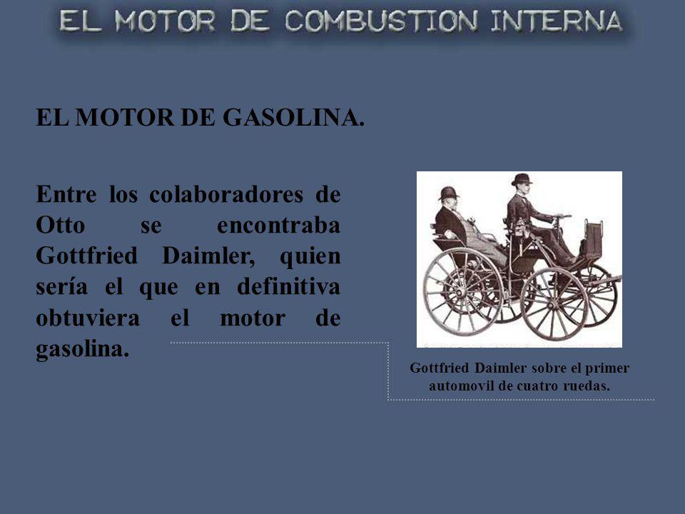 Gottfried Daimler sobre el primer automovil de cuatro ruedas.