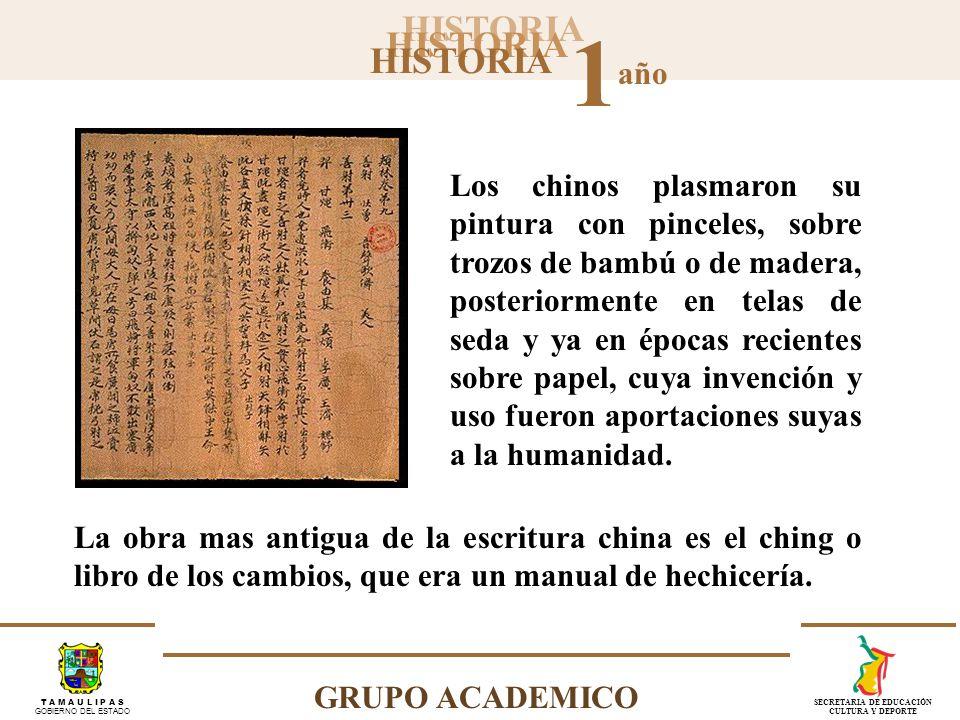 Los chinos plasmaron su pintura con pinceles, sobre trozos de bambú o de madera, posteriormente en telas de seda y ya en épocas recientes sobre papel, cuya invención y uso fueron aportaciones suyas a la humanidad.
