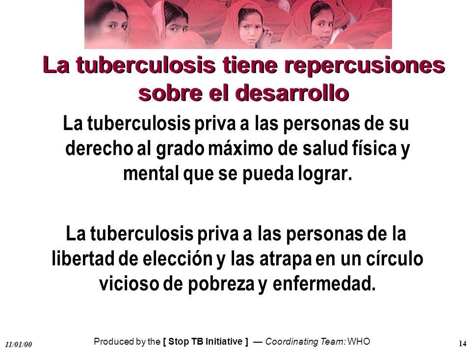La tuberculosis tiene repercusiones sobre el desarrollo