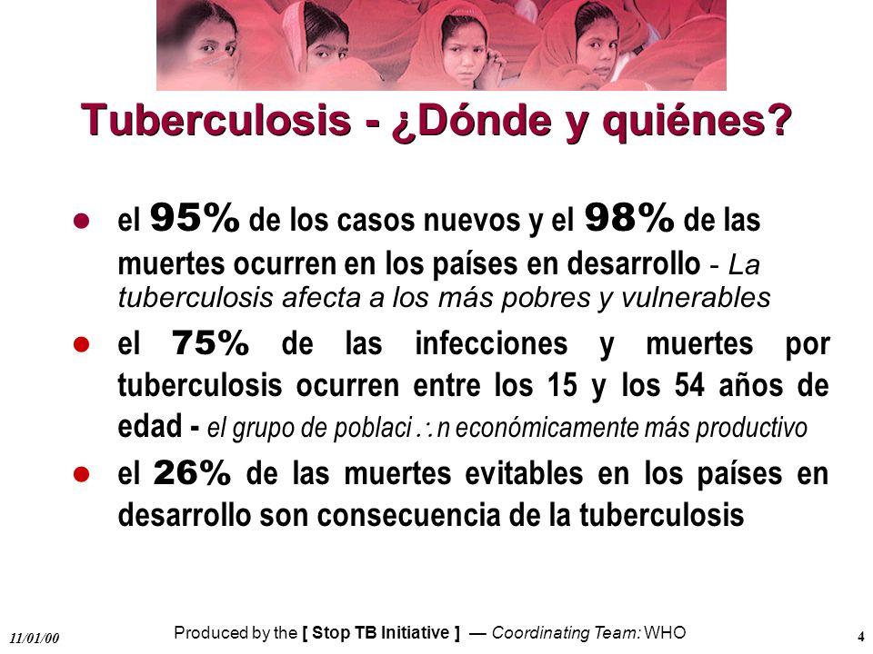 Tuberculosis - ¿Dónde y quiénes