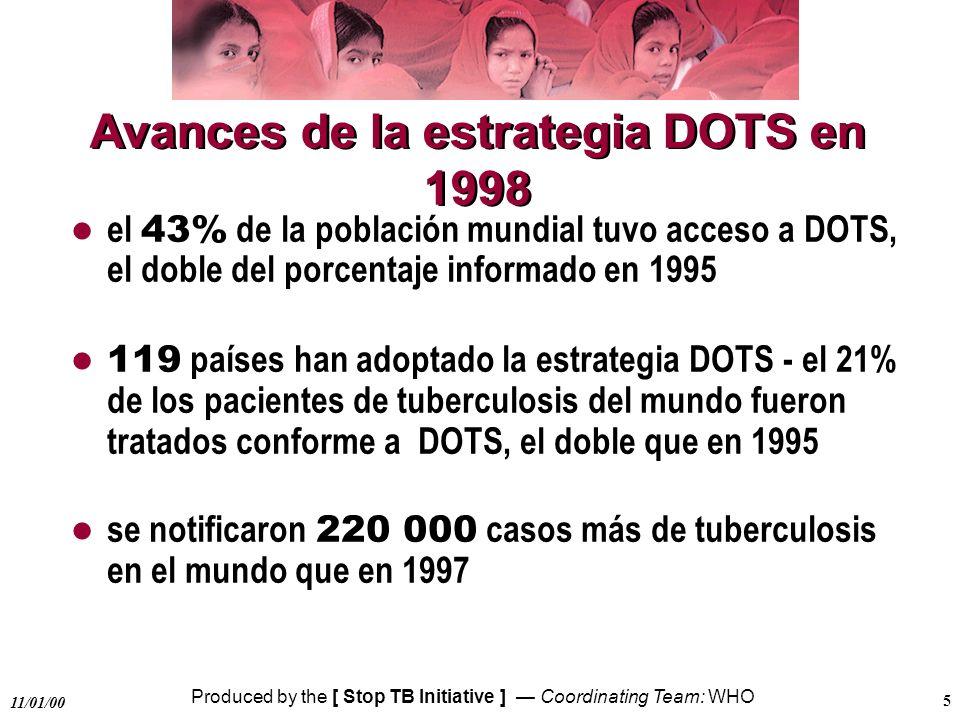 Avances de la estrategia DOTS en 1998