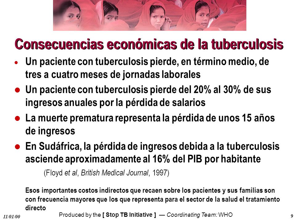 Consecuencias económicas de la tuberculosis