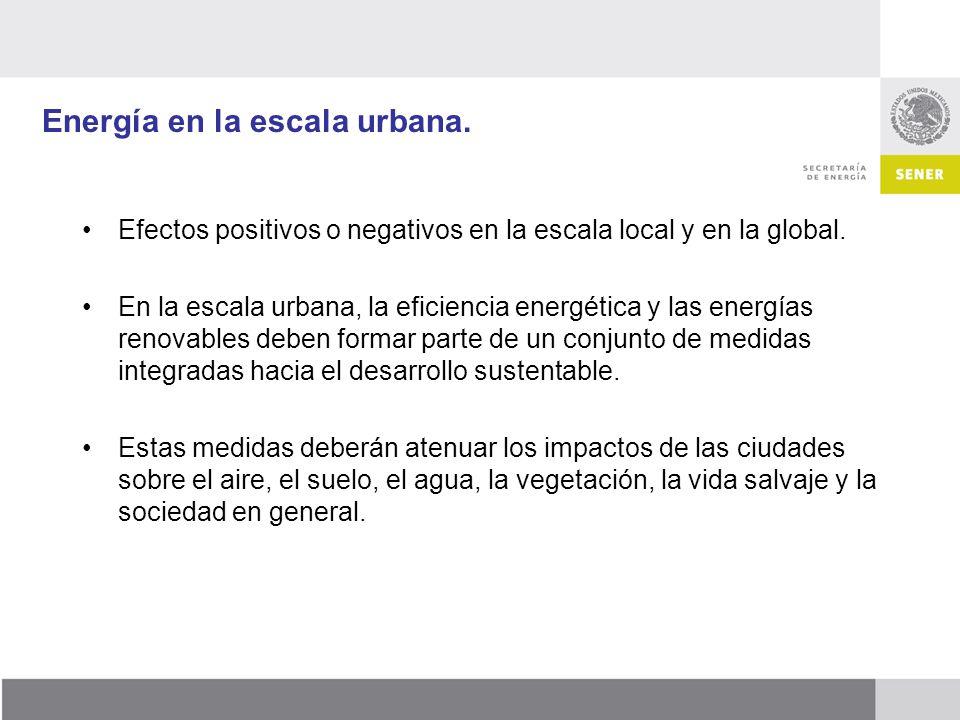 Energía en la escala urbana.