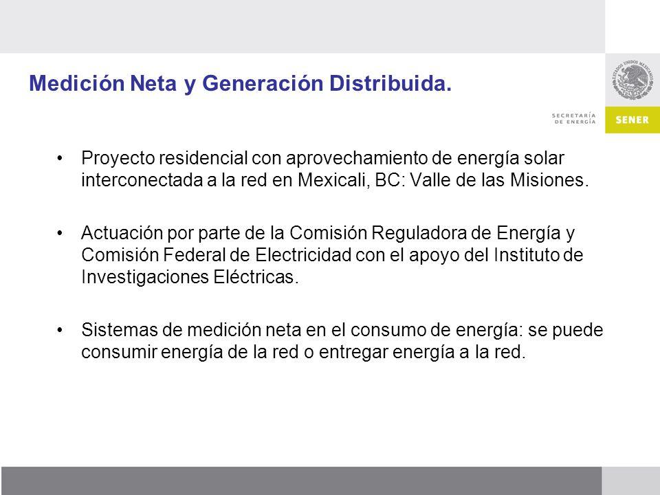 Medición Neta y Generación Distribuida.