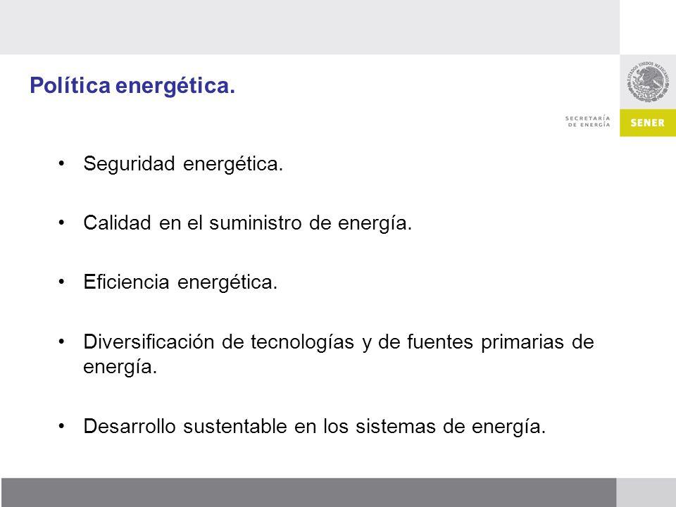 Política energética. Seguridad energética.