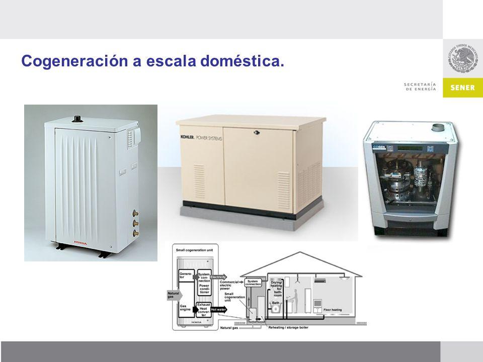 Cogeneración a escala doméstica.
