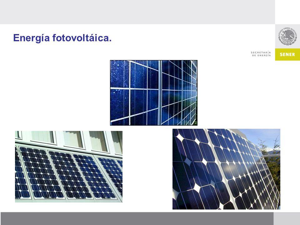 Energía fotovoltáica.