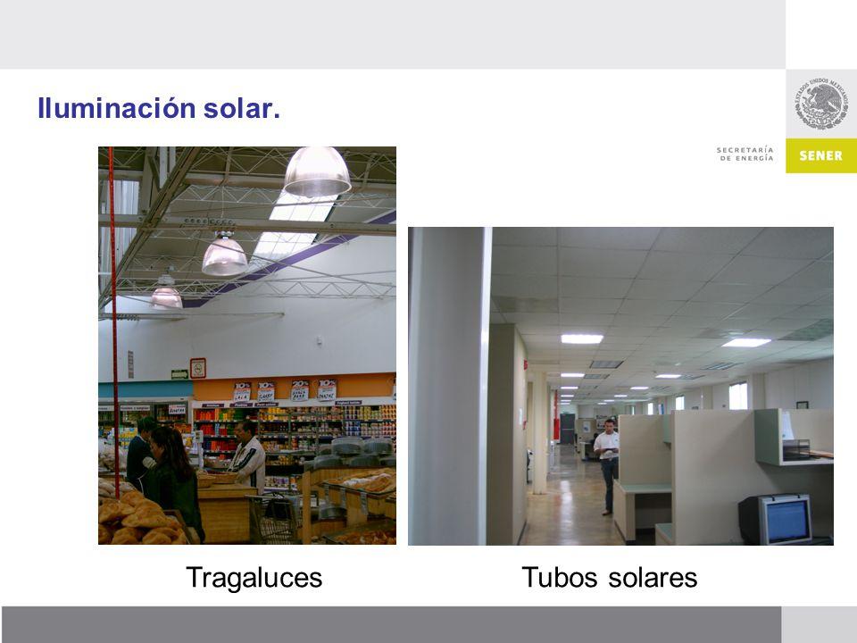 Iluminación solar. Tragaluces Tubos solares