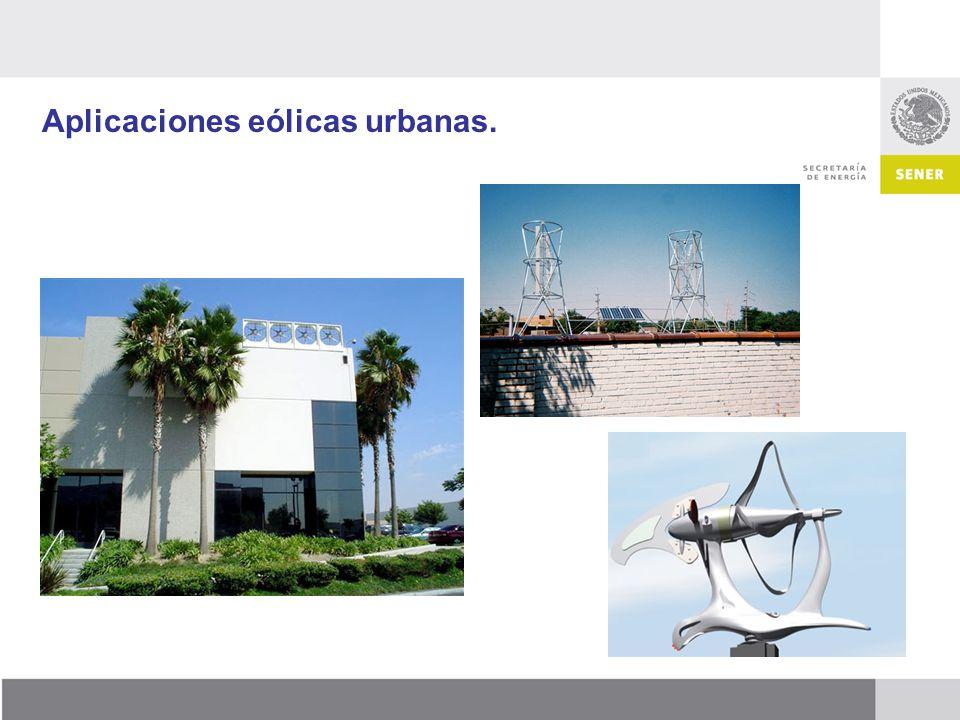 Aplicaciones eólicas urbanas.