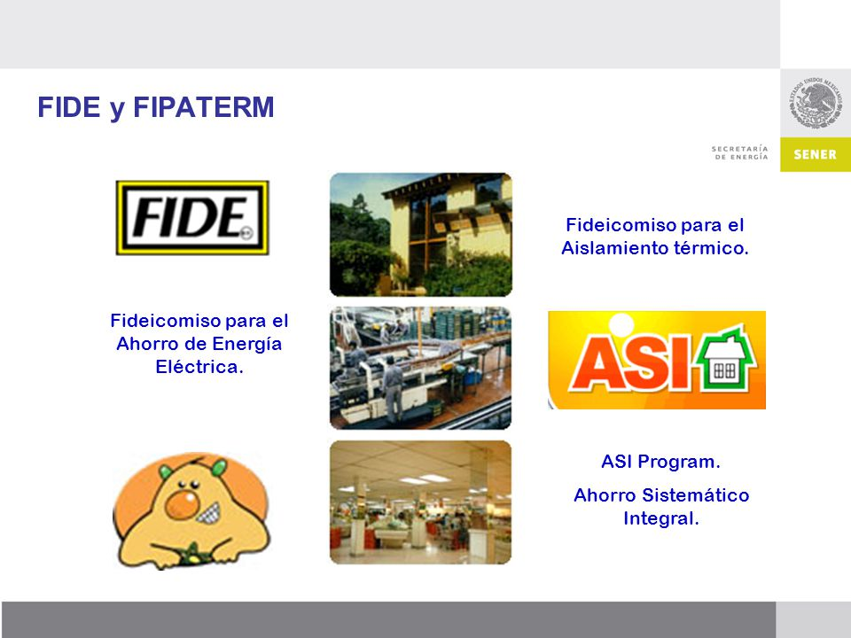 FIDE y FIPATERM Fideicomiso para el Aislamiento térmico.
