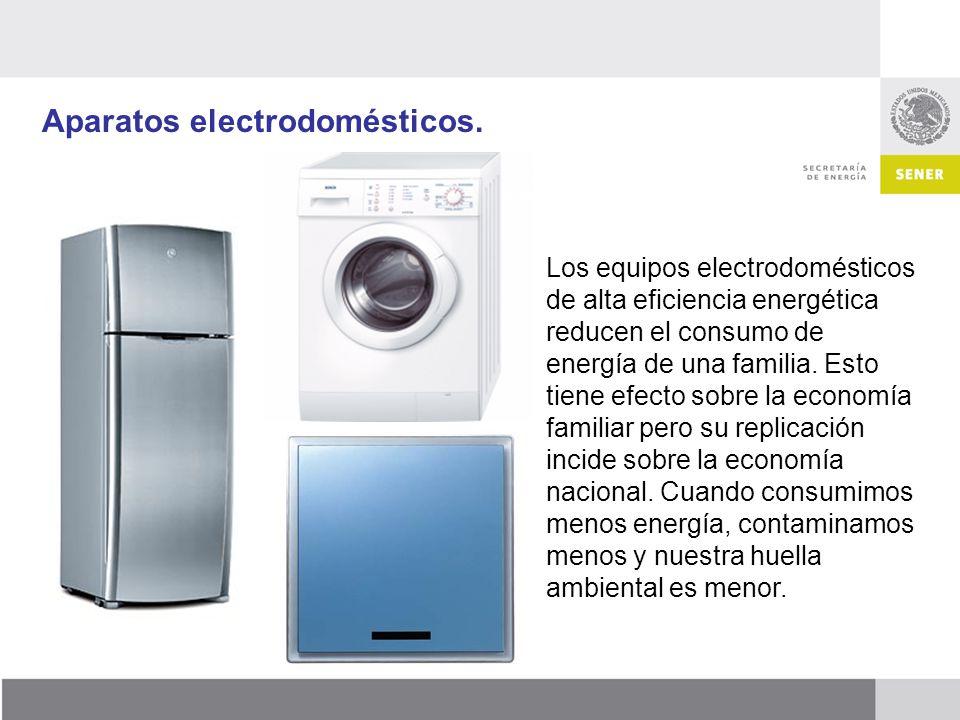 Aparatos electrodomésticos.