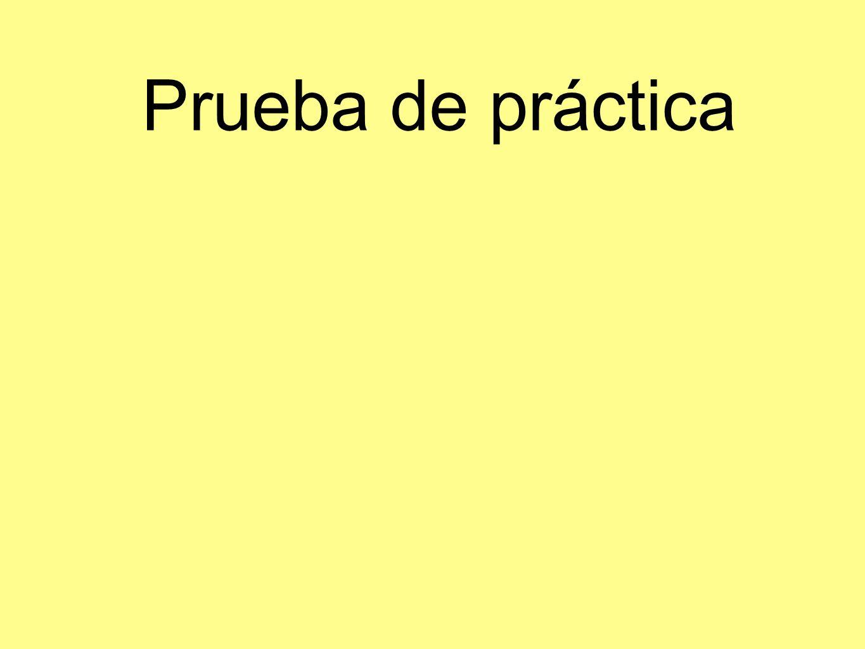 Prueba de práctica