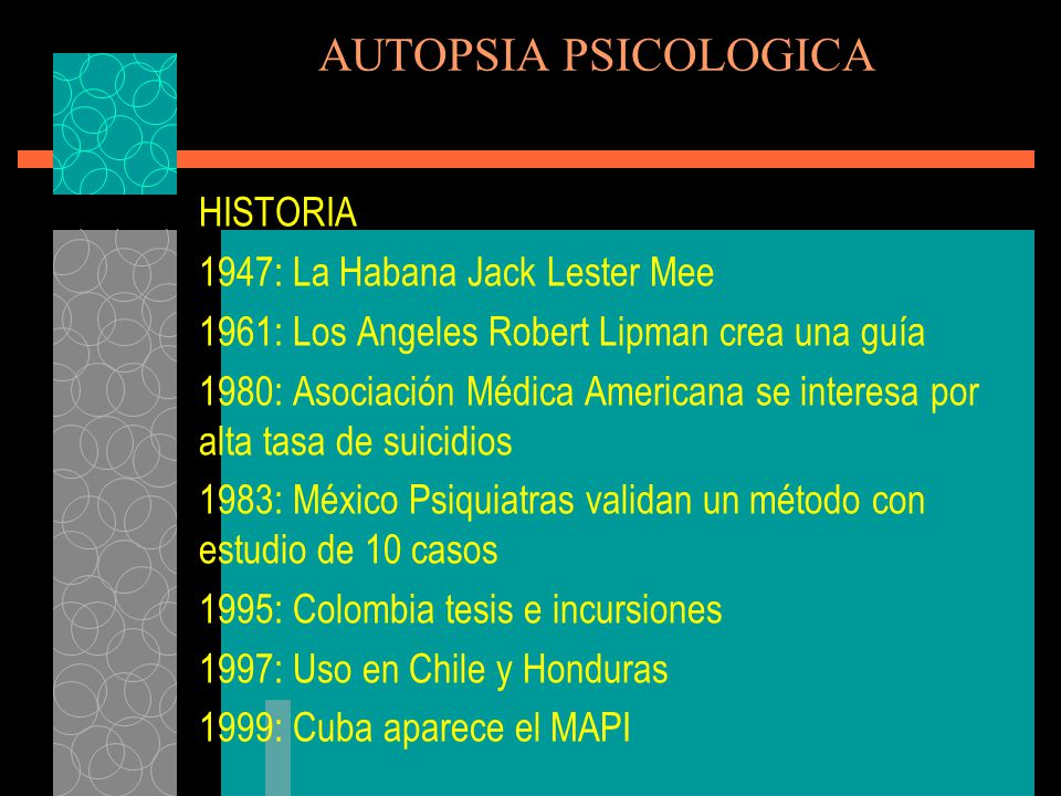AUTOPSIA PSICOLOGICA HISTORIA 1947: La Habana Jack Lester Mee