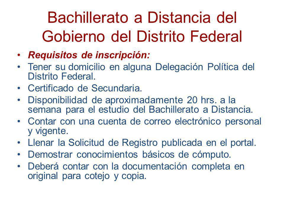 Bachillerato a Distancia del Gobierno del Distrito Federal