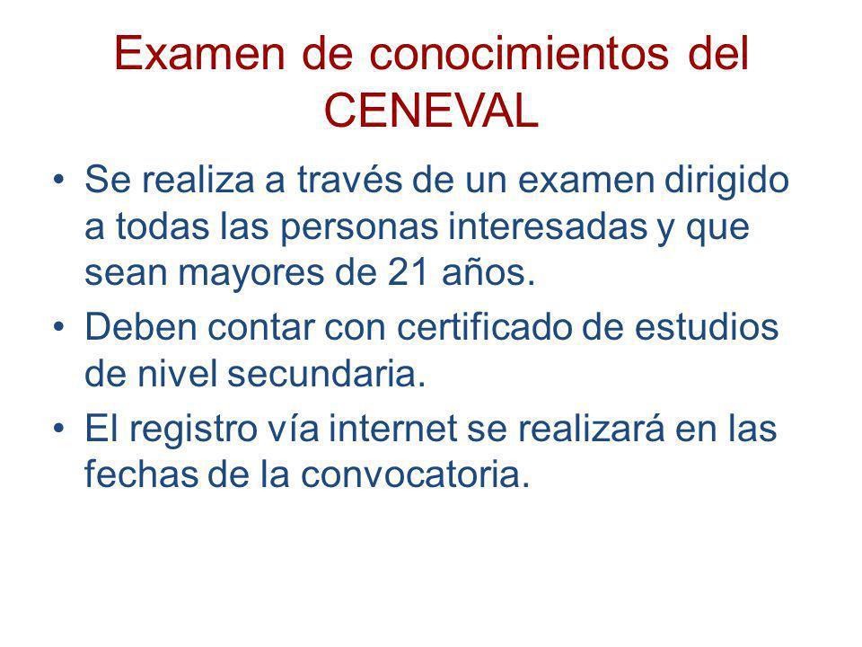 Examen de conocimientos del CENEVAL