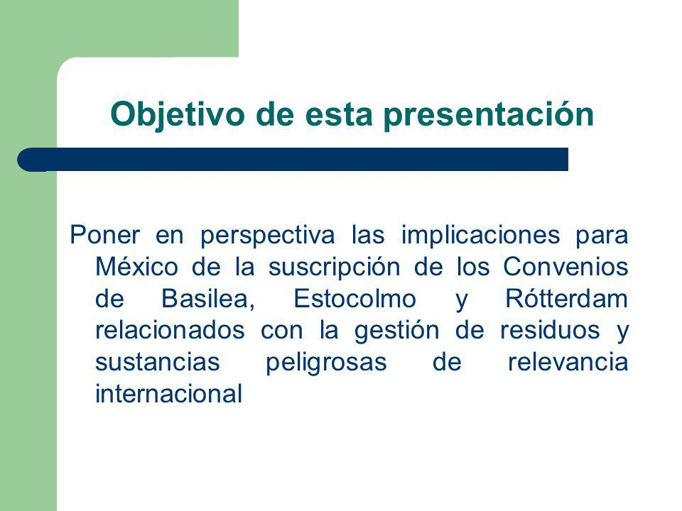 Objetivo de esta presentación