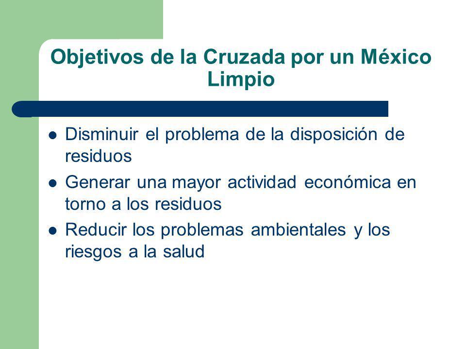 Objetivos de la Cruzada por un México Limpio